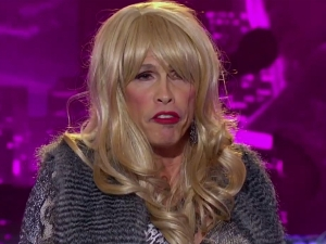 Former Idol Judge and Aerosmith Front Man, Steven Tyler, graces Idol in drag during auditions for Idol 2013.