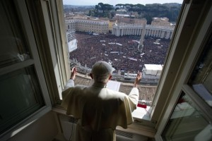 Pope Benedict XVI waves a final goodbye as Pope to live a life of prayer in his retirement.