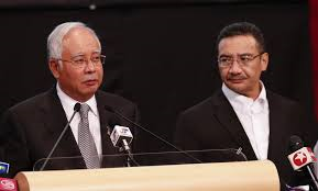 Malaysian Prime Minister, Razak at press conference on Missing Malaysian Flight 370