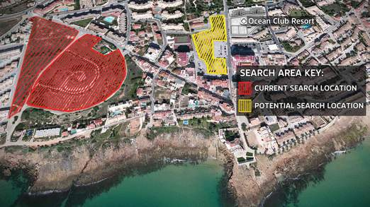 Search areas for Madeleine McCann 2014 by British and Portuguese Police Depts.