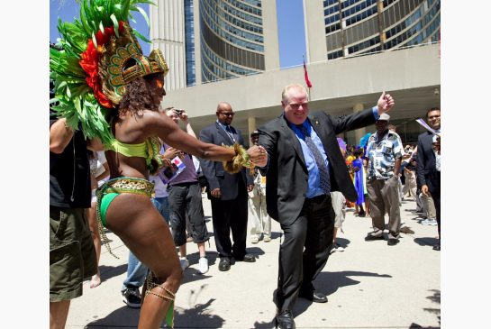 Rob Ford enjoys himself at  Toronto's Caribbean Carnival yearly but, refuses to attend or have anything to do with Gay Pride Celebrations.