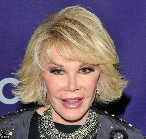 Comedienne, Joan Rivers being slowly brought out of a medically induced coma to be assessed for possible brain damage in a 2 day reversal process say insiders.  The reversal began Sunday and it is hoped that she will awaken on Tuesday of this coming week.