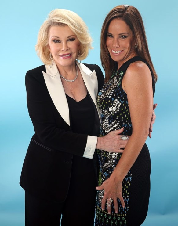 Comedienne Joan Rivers and daughter, Melissa.