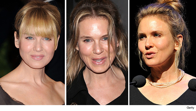 Renee Zellwegger, aged by plastic surgery?