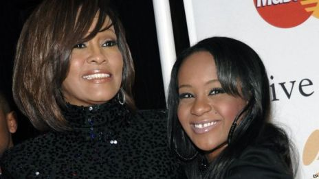 Late singer, Whitney Houston and daughter, Bobbi Kristina Brown, together again in death.