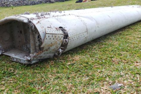 Metal piece thought to be possibly part of a Boeing 777 and potentially, missing Malaysian Flight MH370