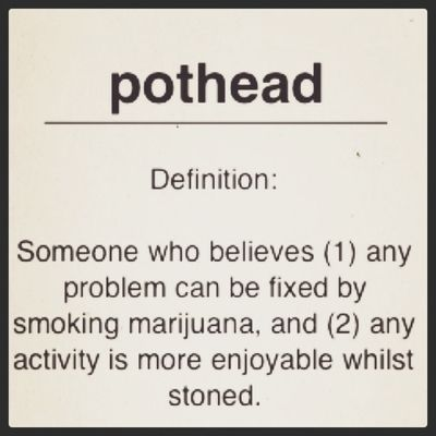 Potheads justify their chronic weed use by telling everyone it