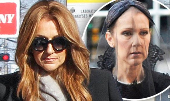 EXCLUSIVE: Celine Dion with mother & sister arrive to chapel for her Brother's funeral