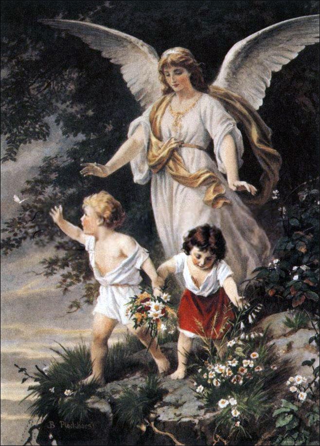 Bernhard_Plockhorst_-_Schutzengel angel