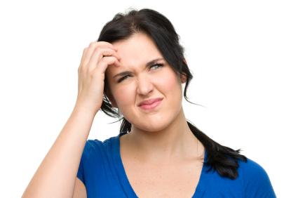 woman looking perplexed