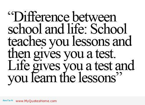 life teaches us lessons