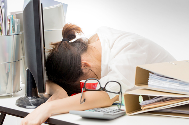 lady sleeping woman asleep at computer