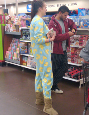 What other store can one go to and not stand out while wearing pyjamas?